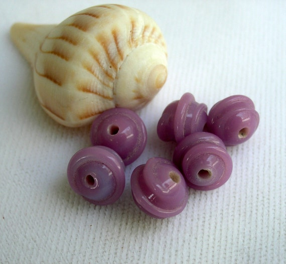Purple Swirl beads 8mm