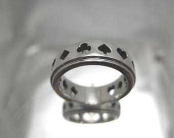 Sterling Silver Poker band.