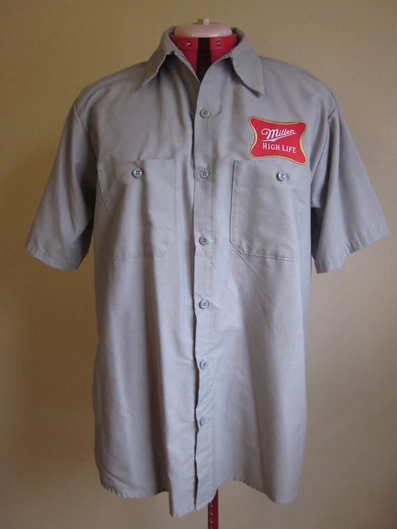 Vintage Miller High Life Uniform Work Shirt