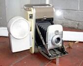 Vintage POLAROID MODEL 80A - Land Camera w/ Flash Unit and Original Boxes - Excellent