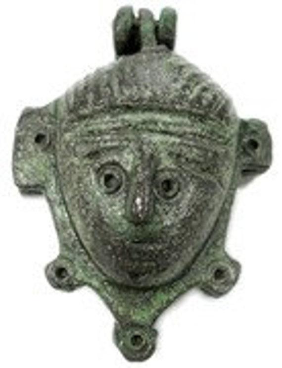 Beautiful And Rare Ancient Roman Bronze Face Padlock - 1st - 3rd century AD
