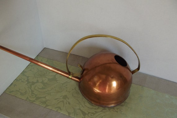 Brass and Copper Watering Can///Sale