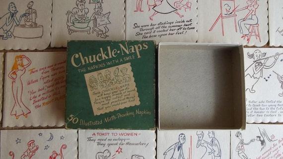 36 Paper Cocktail Napkins ----- Chuckle Naps///SuperSale