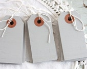 Small Gray Parcel Tags