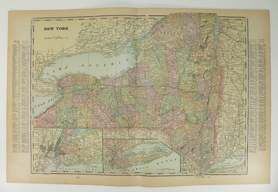New York State Long Island Maryland and Delaware 1901 Antique Map