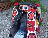 Carseat Canopy /  Infant Carseat Cover / Carseat Tent / Nursing Cover / Snaps for Safe and Easy  Opening and Closing