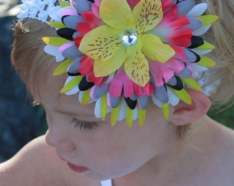 mixxed flower clip and headband