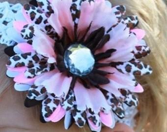 baby hair bow clip hair flower clip with headband