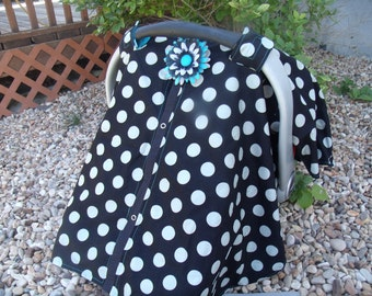 Boy Carseat Canopy. Infant Carseat Cover / Carseat Tent / Nursing Cover / Snaps for Safe and Easy Opening and Closing FREE Shipping CoDe