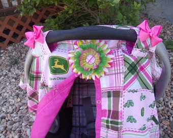 John Deere Car Seat Cover / car seat canopy / carseat cover / car seat tent / nursing cover / john deere / deer / tractor