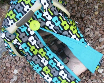 Car seat Canopy Free Shipping Code Today Groovy Guitars NEW / Car seat cover / car seat canopy / carseat canopy / nursing cover