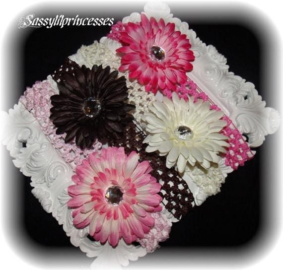 Baby girl headbands 8 piece set