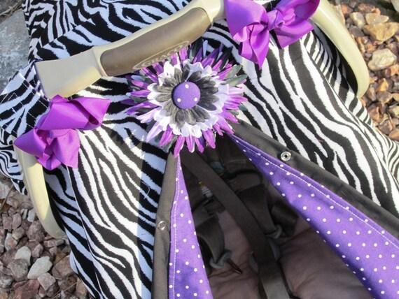 Purple Zebra Print Car Seat Canopy / Car seat cover / car seat canopy / carseat cover / carseat canopy / nursing cover