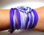 Lavender \/ Blue Bracelet. Dream catcher