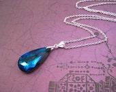 Bermuda Blue Swarovski Pendant, Bermuda Blue, Swarovski Necklace, Bridal Jewelry