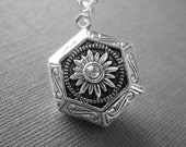 Precious Memory, Jewelry, Silver Locket, Photo Pendant, Photo Locket, Antique Locket by BeadedSparkle