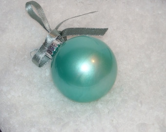 Hand painted glass ornament B14 - Save 15% with coupon code NEEDAGIFT