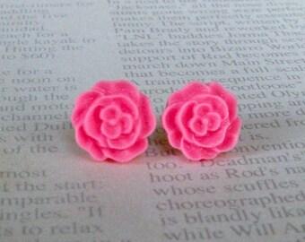 Rose Earrings- Watermelon