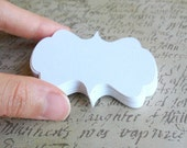 "ON SALE 18 Rectangle Bracket Tag Size 3 3/4"" x 2"" in White Non-textured Cardstock paper"