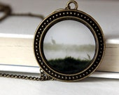 15% OFF weekend SALE The Stillness of a Misty Morn - Photograph Pendant Necklace - original photography