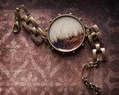 Vintage Inspired Jewelry PhotoBracelet - Beach Memories - original fine art photo - sand grass