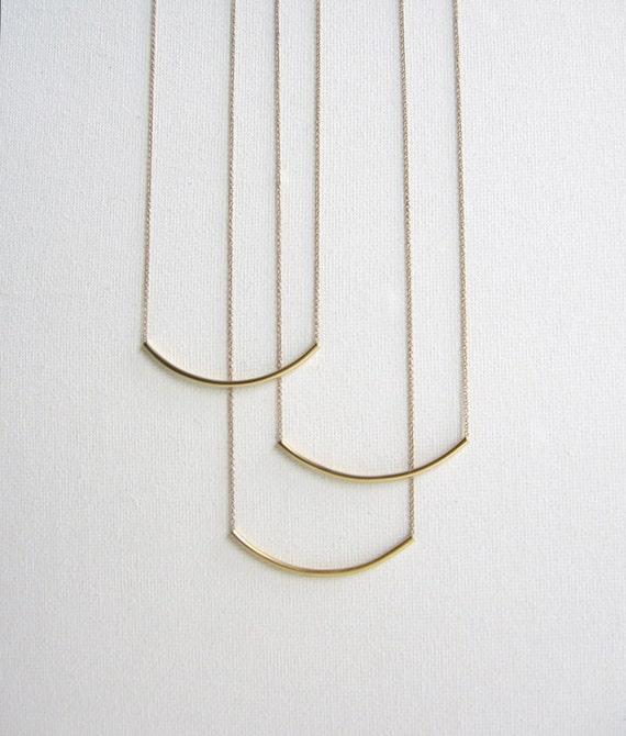 Bronze Curve Necklace