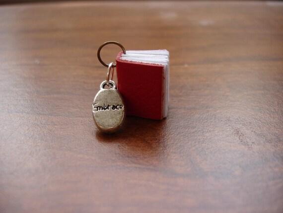 SALE - Embrace Journal - Steampunk Journal Necklace - Tiny Leather Journal Pendant