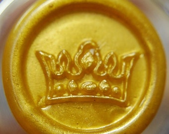 Crown Peel and Stick Faux Wax Seals