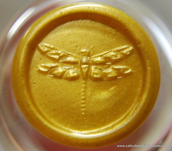 Dragonfly Peel and Stick Flexible Faux Wax Seals