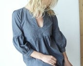 Reserved For Juyeon Dress or Tunic - My Garden - Grey  color