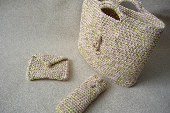 RESERVED 3 Piece Beach Tote Set in Reclaimed Cotton