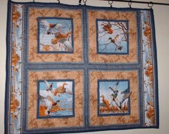 Walden Pond Duck Panel 41x34 Quilted