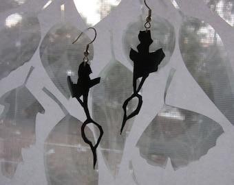 Ecofriendly Radish bike tube earrings
