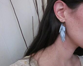 Alula feather Bike Tube Eco friendly Earrings