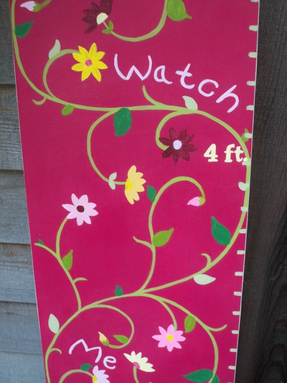 Watch Me Grow Flower Growth Chart