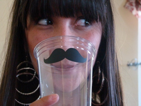 Disposable Mustache Party Cups - 50 pack