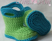 Booties Crochet Pattern Baby Booties  for Baby Goshalosh Boots -  4 sizes - Newborn to 12 months. digital