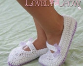 Crochet Pattern Toddler Mary Janes Shoes for - TODDLER RIBBON MARYJANES digital