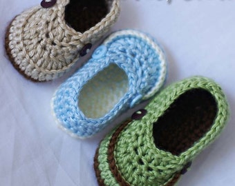 Booties  Crochet Pattern for LITTLE MISTER LOAFERS digital