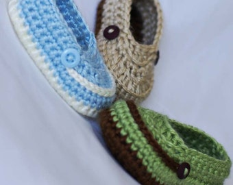 Baby Boy Booties Crochet Pattern for LITTLE MISTER LOAFERS digital