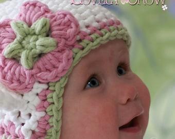 Hat Crochet Pattern for Babies or Toddlers  Bulky Yarn Monkey Earflap Beanie