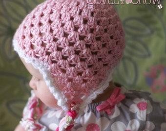 Earflap Beanie Crochet Pattern for Sugar and Spice Earflap Beanie digital