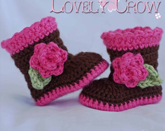 Wellies Crochet Pattern booties  for SUGAR and SPICE BOOTS digital