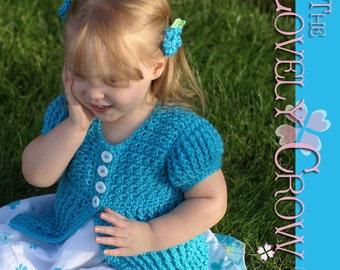 Baby Cardigan Crochet Pattern Vest, Sweater, or Cardigan, BELLA SARAH CARDIGAN digital