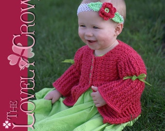 Children Cardigan Crochet Pattern Vest, Sweater, or Cardigan, BELLA SARAH CARDIGAN digital