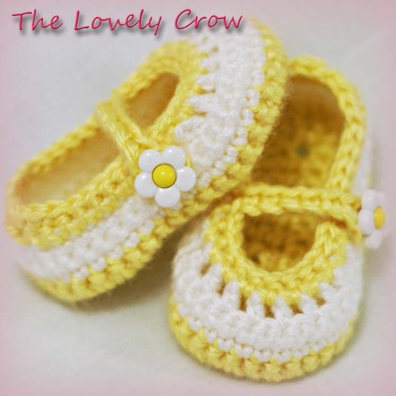 PDF Crochet Pattern for Baby Teaparty Maryjanes -  4 sizes - Newborn to 12 months. 2 strap style options included.