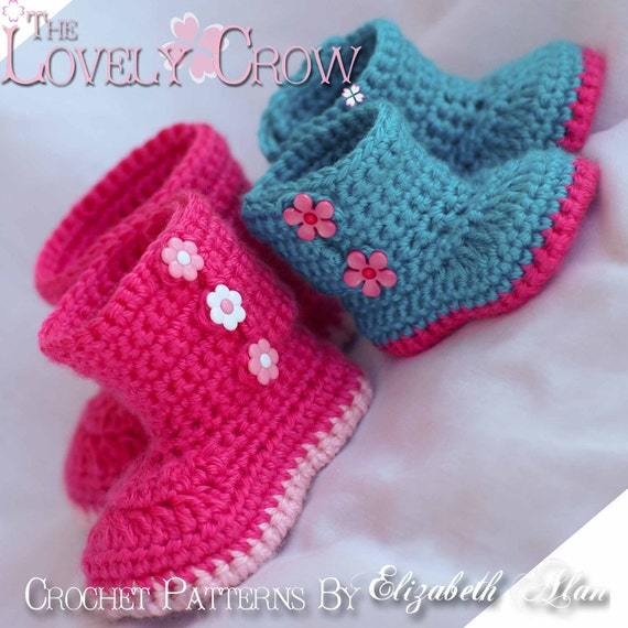 Boots Crochet Pattern Boots For Baby Garden Boots 4 Sizes