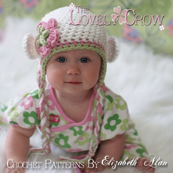 Crochet Pattern Baby Monkey Hat for Babies or Toddlers Bulky
