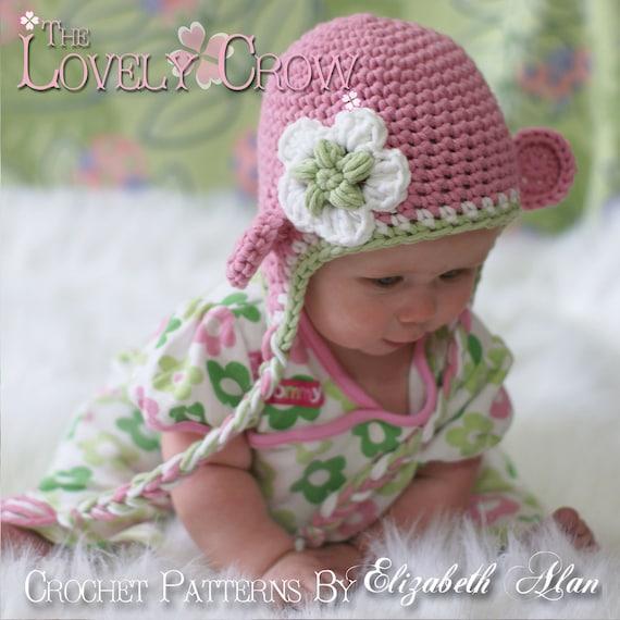 Bulky Crochet Earflap Hat Pattern Free : Monkey Hat Crochet Pattern Monkey Hat for Babies or Toddlers