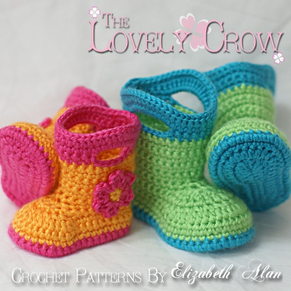 Crochet Baby Rain Boot Pattern Free : Rainboots Crochet Pattern Baby Rainboots for Baby Goshalosh
